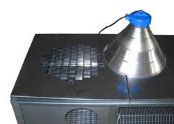 G r e c o store allevatrice per pulcini in lamiera for Lampada infrarossi riscaldamento pulcini