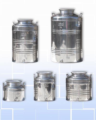 Contenitori per olio di oliva acciaio