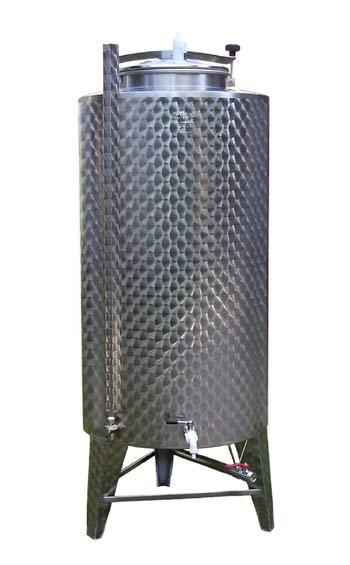 G r e c o store serbatoio in acciaio inox 500 litri da for Scatolati in acciaio inox