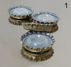 tappi corona da 26 mm con bidoul corto
