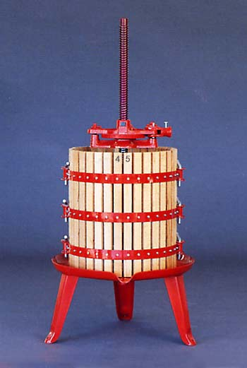 wine press, ratchet basket press